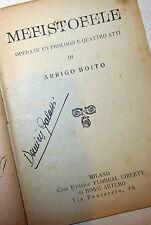 Libretto Opera Lirica Teatro - Arrigo Boito: Mefistofele. Milano Floreal Liberty
