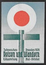 Germany Poster stamp: Dresden 1929 Hiking Marker  (dw448)