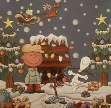 NEEDLEPOINT Canvas 14 or 18 count, Snoopy & Charlie Brown Christmas