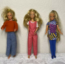 Vintage 1960s - 1980s BARBIE DOLLS Preowned Lot Of 3 ~ CUTE CASUAL OUTFITS !!!