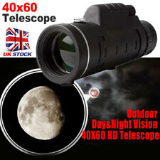 40X60 HD Zoom Monocular Night Vision Telescope Outdoor Camping Hiking + Tripod