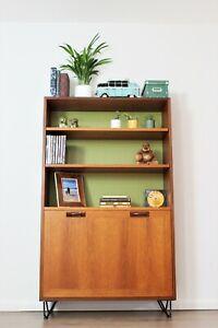 Vintage Retro G Plan Bookcase Shelving Hairpin Legs Teak bureau Mid Century.