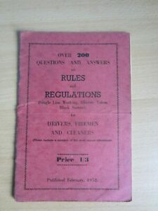 1952 British Railways Rules and Regulations 200 Questions & Answers Mayoh Press