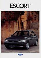 0265FO Ford Escort Prospekt 1992 9/91 1991 Autoprospekt brochure prospectus PKW