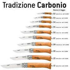 COLTELLO OPINEL LAMA CARBONIO CON BLOCCO GAMMA COMPLETA