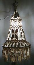 MACRAME HANGING LAMP BOHO CEILING LIGHT COVER NEW..