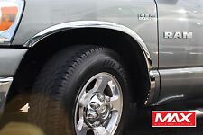 FTDO101 2002-2008 Dodge Ram 1500 Short Bed CHROME Stainless Steel Fender Trim