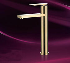 Deck Mounted Brushed Brass Gold Kitchen Sink Basin Mixer Tap Swivel Spout Faucet