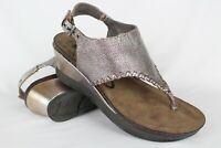 OTBT Women's Meditate Cork Wedge Sandals Gladiator Silver Leather