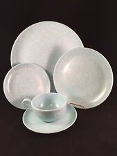 Melmac Dinner Bread Dessert Saucer Plate Cup Place Setting Lot Baby Blue