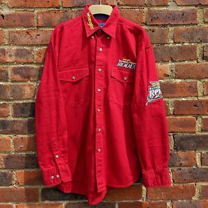 Vintage Wrangler Rodeo Shirt Embroidered National Finals Las Vegas 2002 Size M