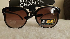 STYLISH Foster Grants BUTTERFLY Max Block Sunglasses BROWN