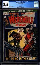Marvel Spotlight 3 CGC 8.5 WP Bronze Age Key 2nd Werewolf By Night  L@@K IGKC