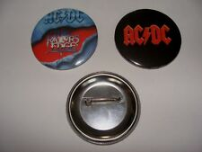 BADGES  AC/DC ROCK  56MM LOT DE 2