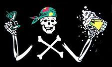 Fahne Flagge - Pirat mit Bier - 90 x 150 cm, mit 2 Ösen