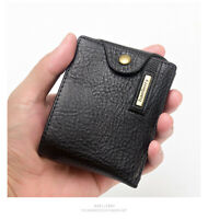 Men's Retro Leather Wallet Zipper Coin Purse Credit Card Holder Wallets Gift box