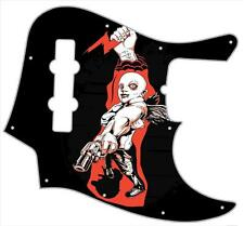 J Jazz Bass Pickguard Custom Fender Graphic Graphical Guitar Pick Guard Enforcer
