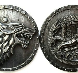Game of thrones Direwolf House of Stark  House Targaryen Dragon Wall sculptures
