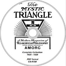 ROSICRUCIAN magazine THE MYSTIC TRIANGLE complete collection DVD ROM occult