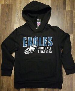 Philadelphia Eagles Youth Boys Size medium (8) Hooded pullover Sweatshirt NWT...
