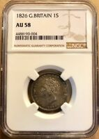 Great Britain - George IV - One Shilling - 1826 - NGC AU58