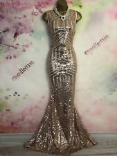 BNWT EZY GRAY MAXI/FULL LENGTH Sequins evening/occasion DRESS SIZE 18 Christmas