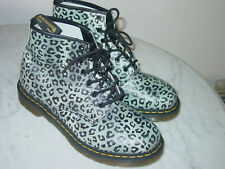WOMENS DOC MARTENS 101 Leopard Print 6 Eyelet Boots! Size 11