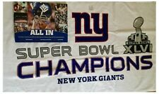 Super Bowl XLVI NFL New York Giants Hologram Programme, Towel & Book Set Bundle