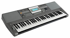 Keyboard 61 Tasten Digital Piano Sounds Rhythmen Lernfunktion Musik USB LCD grau