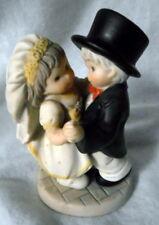 Enesco YOU DANCED INTO MY HEART Bisque Figurine Wedding Cake Topper 2001
