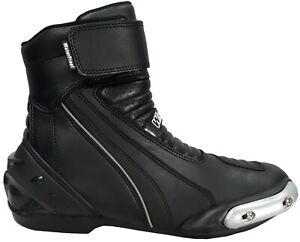 chaussures bottes basses pour moto avec protections talon pointe malléole