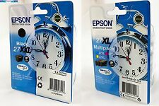 4 Epson Druckerpatronen original Tinte 27 XXL T2791 BK / 27 XL T2715 C/M/Y Color