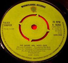 "Alice Cooper No More Mr Nice Guy 7""UK ORIG 1973 Warner Bros Raped &Freezin VINYL"