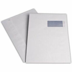 Fensterversandtaschen C4 weiß Haftklebung Briefumschlag Fenster rechts Kuvert