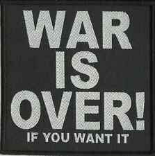 JOHN LENNON war is over ! if you want it WOVEN - SEW ON PATCH official BEATLES
