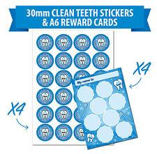 Clean Teeth, Stickers & Regular Cleaning Charts - Teach Oral Hygiene - Children