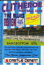 Clitheroe v Ramsbottom United 1997/98 The NorthWest Counties League 1st div