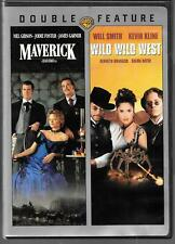 Warner Bros. Double Feature MAVERICK / WILD WEST USED DVD, Mel Gibson Will Smith