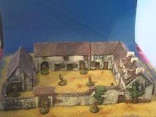 Painted Haye sainte Farm, wargames scenery and terrain buildings. For 10mm, 15mm