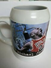 Michael Jordan Autograph Mug Cup Nba Chicago Bulls 1997 Stein Coffee Portrait