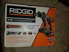 NEW Ridgid GEN 5X Brushless 18V Hammer Drill & 3 Speed Impact Combo Kit R9205