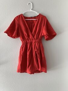 Zara Red Romper Dress Size XS Women
