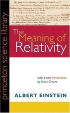 The Meaning of Relativity, Einstein, Albert, Very Good ,#######Clean Book- As re