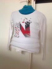 Tee-shirt FILLE  6 - 8 ans DPAM Urban paillettes et drapeau papillon