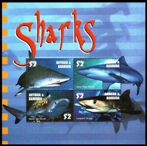 Antigua & Barbuda 2003 MNH SS, Sharks, Fish, Marine Life