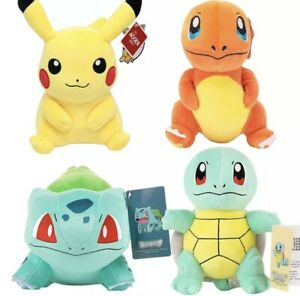 22-25CM Pokemon Plush Soft Teddy Stuffed Animal Dolls Kids Toy New UK