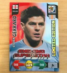 Panini Adrenalyn XL World Cup 2010 - Steven Gerrard - England - Limited Edition
