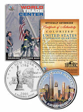 WORLD TRADE CENTER * 8th Anniversary * NEVER FORGET 9/11 NY Quarter US Coin WTC