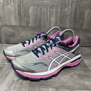 ASICS GT-2000 5 Running (T757N) Shoes, Women's Size 8.5, MidGrey/White/Pink