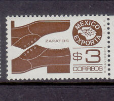 Mexico Exporta Shoes,#1118a, PAPER 5.fluorescence frt. gum white.Mint NH